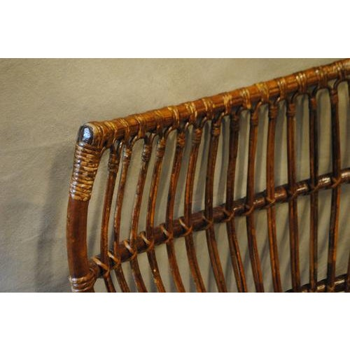 Early 20th Century Italian Rattan Bamboo Arm Chair For Sale - Image 5 of 8