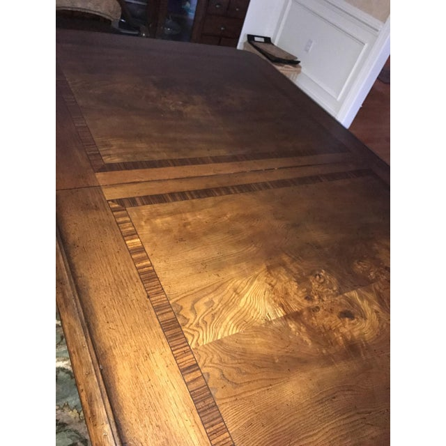 Thomasville Thomasville Bibbiano Trestle Dining Table and Upholstered Chairs For Sale - Image 4 of 8