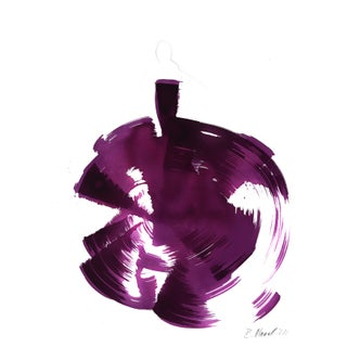 """The Purple Dress"" Original Artwork by Bettina Mauel For Sale"