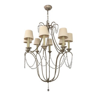 Traditional Champagne Iron Chandelier For Sale