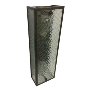 Rectangular Caged Wall Sconce For Sale