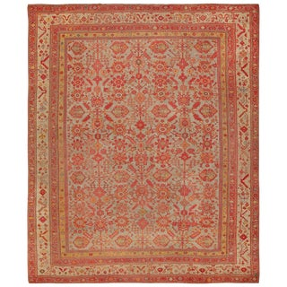 Room Size Antique Decorative Turkish Oushak Rug - 11′8″ × 14′ For Sale