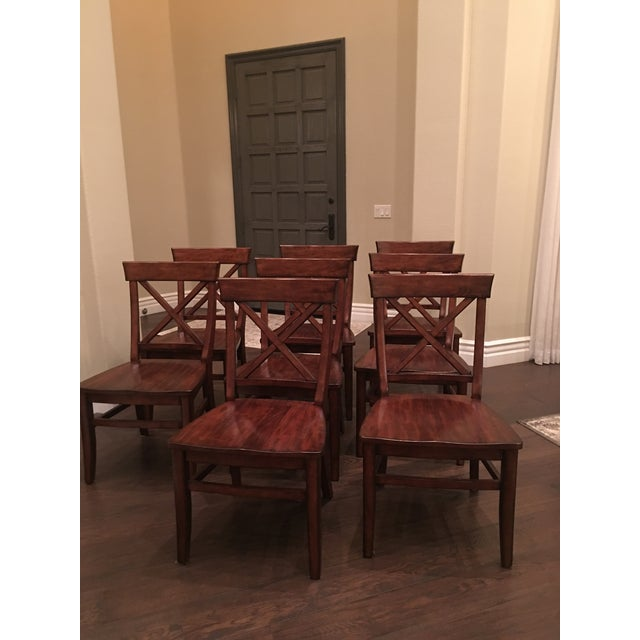 Mahogany Aaron Wood Seat Chairs - Set of 8 For Sale - Image 7 of 8