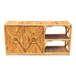Vintage Rattan Bar/Buffet/Sideboard For Sale