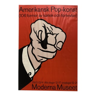 1973 Lichenstein Poster for Moderna Museet in Stockholm For Sale