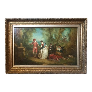 Nicolas Lancret Circle of 18th Century Old Master Painting, France For Sale