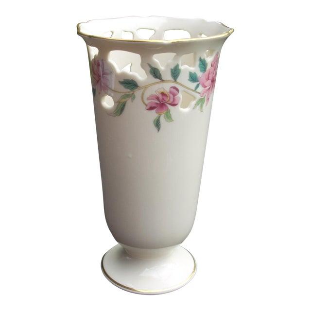 Lenox White Porcelain Vase - Image 1 of 5
