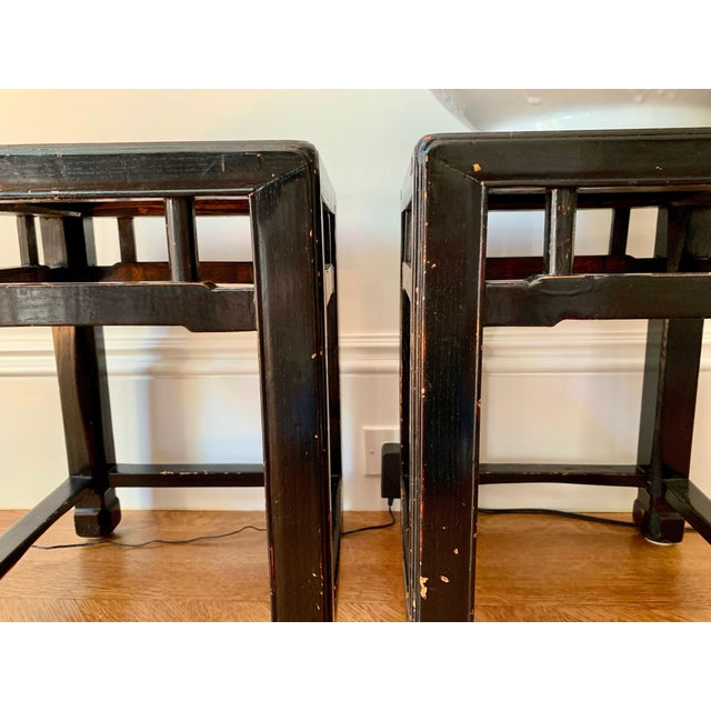 Antique 19th Century Chinese Stools- a Pair For Sale - Image 4 of 5