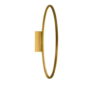 Hoop Brushed Brass Wall Light For Sale