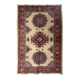 "Kazak Geometric Rug-6'4"" X 9'4"" For Sale"