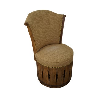 Romweber Viking Oak Swivel Barrel Chair