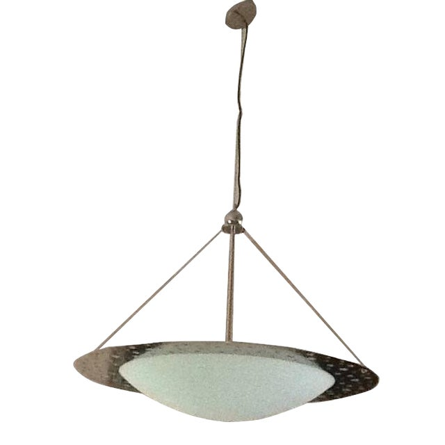 Contemporary Chrome Chandelier For Sale