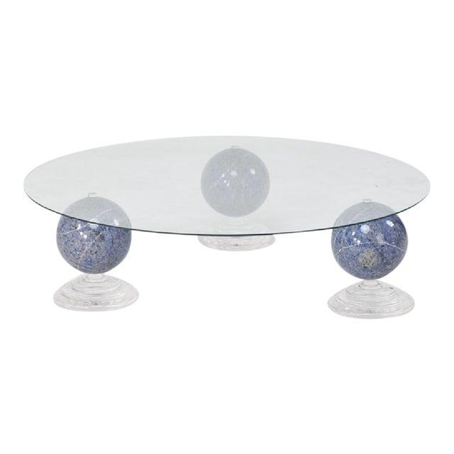 "Lapis Lazuli ""Tri-Orbic"" Coffee Table, C. 1983 - Image 1 of 9"