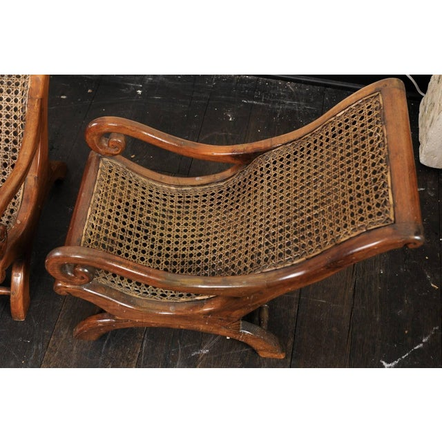 Brown Pair of French 19th Century English Children's Chairs With Cane Backs and Seats For Sale - Image 8 of 11