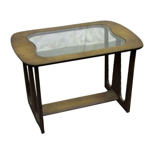 Mid-Century Style Wood End Table For Sale - Image 6 of 7