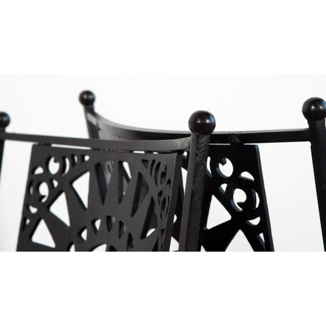 1950s Mid Century Modern Arthur Umanoff Mayan Sun Cast Iron Chairs - a Pair For Sale - Image 10 of 13