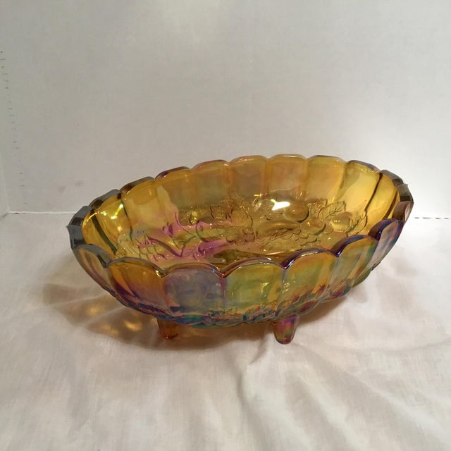 Carnival Glass Serving Bowl - Image 11 of 11