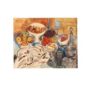 Raoul Dufy Original Swiss Still Life Period Lithograph, Circa 1940s For Sale