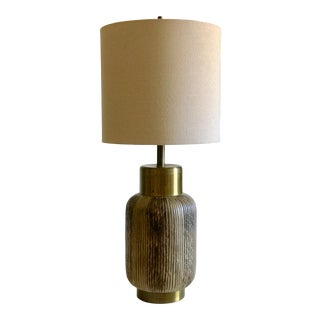1960's Lee Rosen Attributed Ceramic Lamp With Shade For Sale