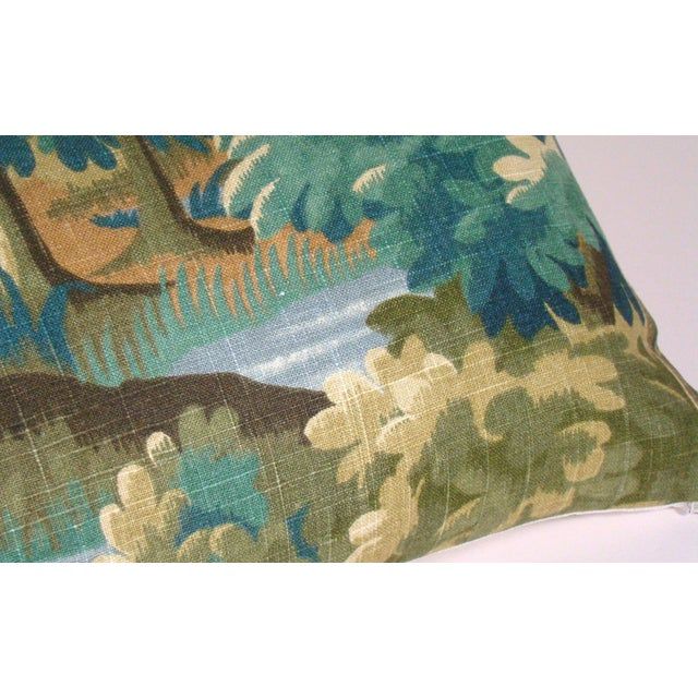 2020s Verdure Print Linen Lumbar Pillow Cover For Sale - Image 5 of 10