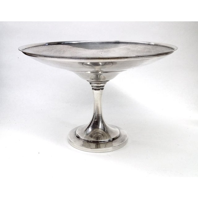 Vintage Pedestal Silver Plate Candy Condiment Dish For Sale In Boston - Image 6 of 8