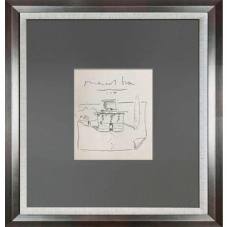 1984 Michael Graves Hand Drawing For Sale