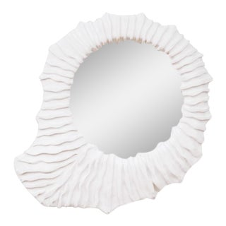 French Plaster Convex Sunburst Mirror For Sale