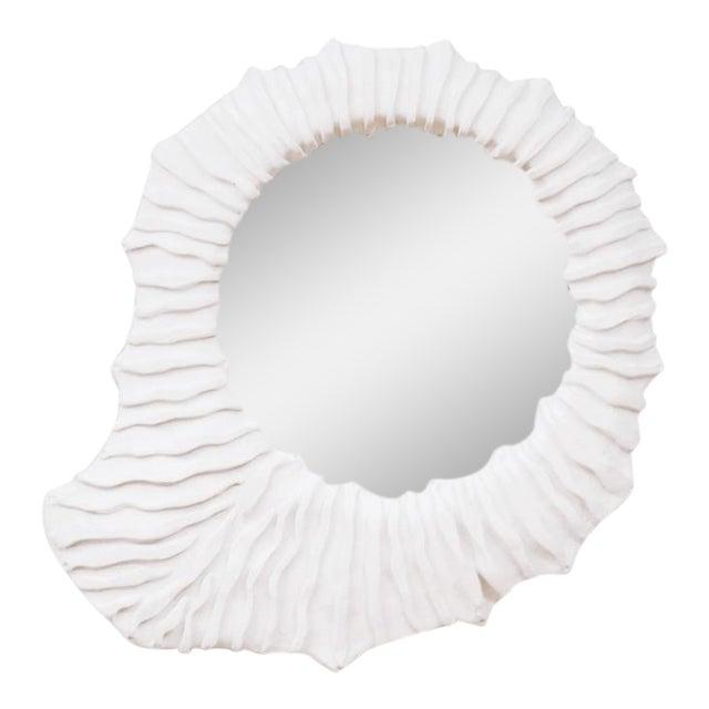 French Plaster Convex Sunburst Mirror For Sale