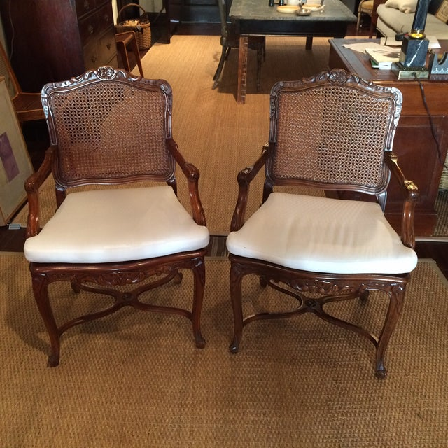 20th C. French Fauteuils - Pair - Image 2 of 4
