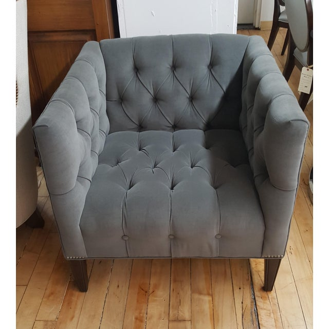 Contemporary Wesley Hall Tufted Club Chair For Sale - Image 10 of 10