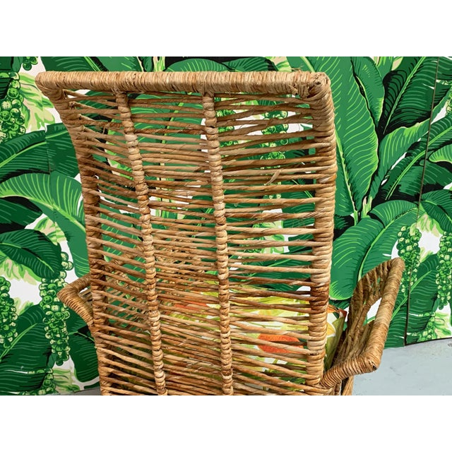 Rattan Jute Rope Wrapped Dining Chairs, Set of 6 For Sale - Image 10 of 13