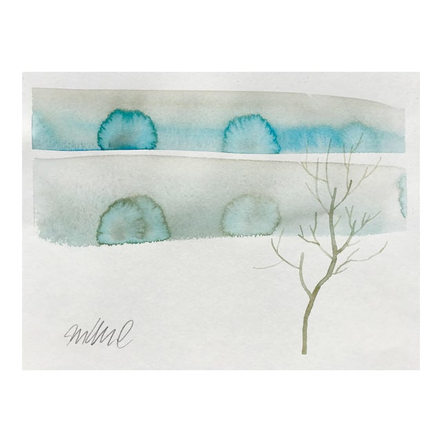 """""""Winters Dust"""" Watercolor Painting For Sale"""