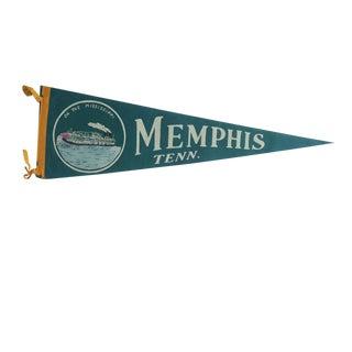 Vintage Memphis Tenn. Felt Flag Pennant