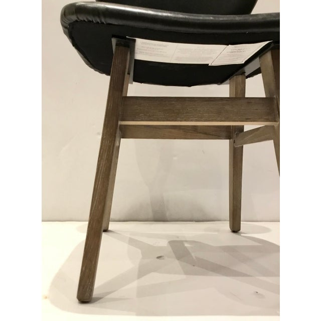 Industrial Industrial Modern Black Faux Leather Side Chair/Desk Chair For Sale - Image 3 of 7