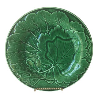 Antique French Majolica Salad Plate For Sale