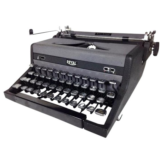 Vintage Royal Quiet DeLuxe Typewriter - Image 1 of 6