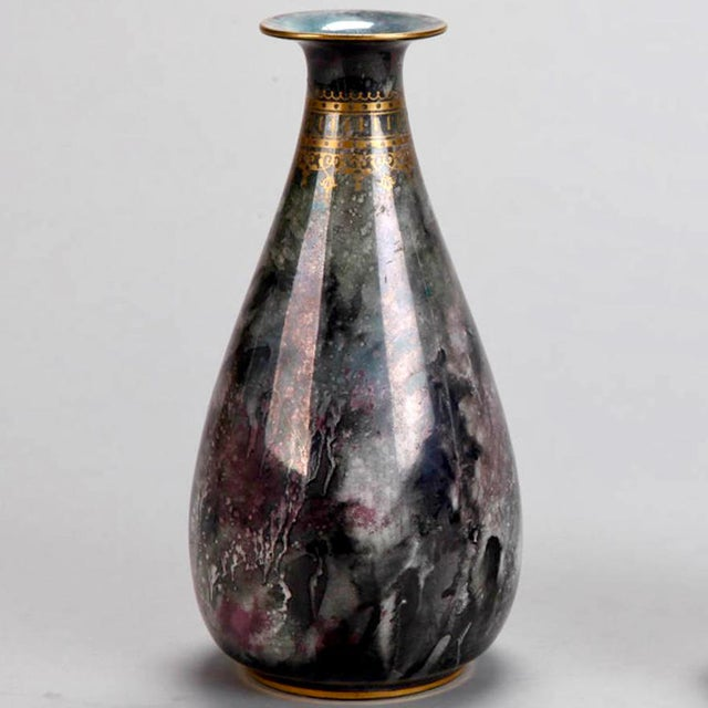 Art Deco Pair of Losol Ware Keeling and Co. Vases - Image 3 of 8