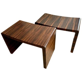 Pair of Macassar Ebony Benches For Sale