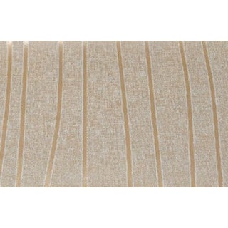 Neutral Gold Stripe Lines Wallpaper For Sale