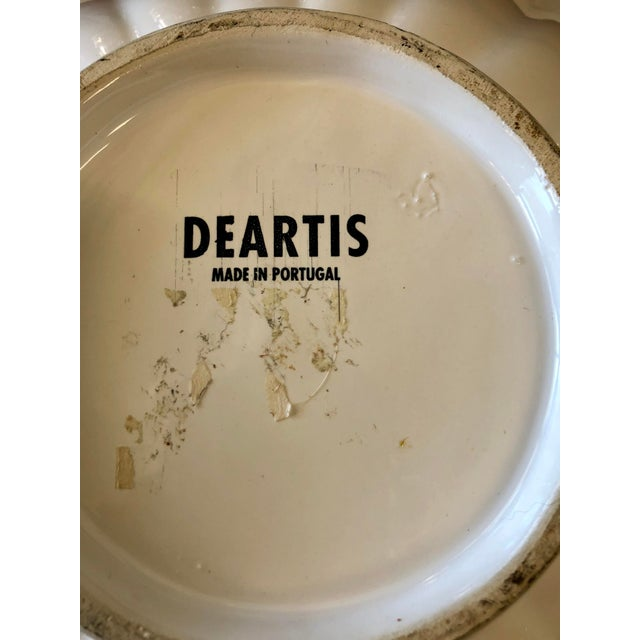 Deartis Scalloped White Ceramic Fruit Bowl For Sale - Image 4 of 6