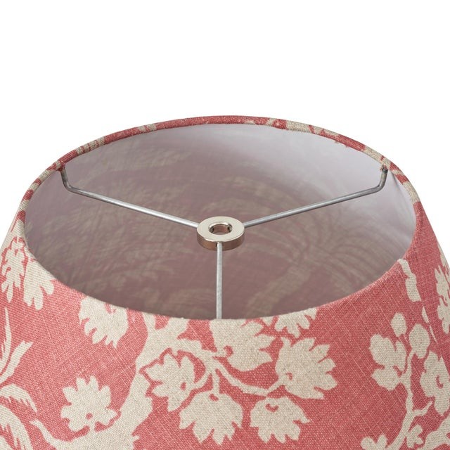 Schumacher Schumacher Woodland Silhouette Linen Lampshade in Rhubarb For Sale - Image 4 of 5