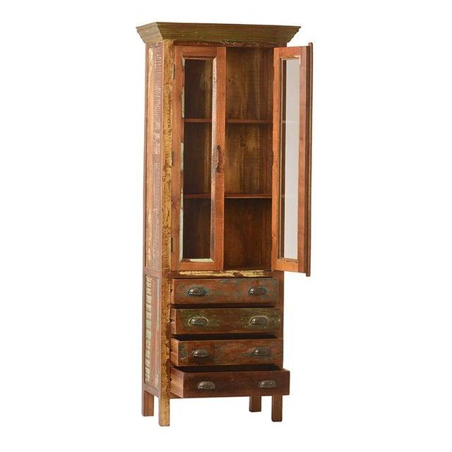 Reclaimed Wood Glass Door Cabinet - Image 2 of 2