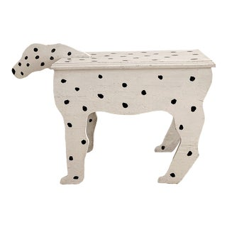 1970s Dalmatian Dog Wooden Table - Handmade For Sale