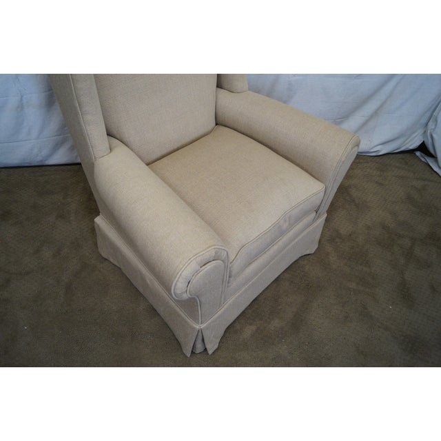 Lexington Tan Upholstered Lounge Chair For Sale In Philadelphia - Image 6 of 10
