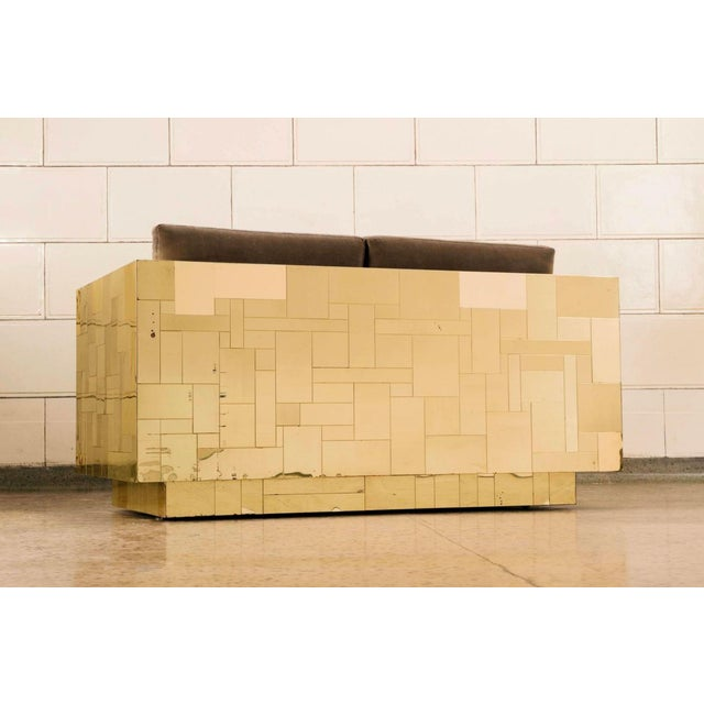 Mid-Century Modern Paul Evans Brass Settee For Sale - Image 3 of 10
