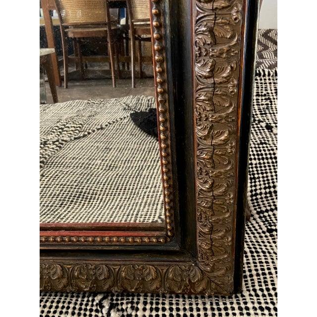 Art Deco Louis Phillip Gold Leaf Antique Mirror For Sale - Image 3 of 7