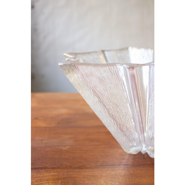 French French Starburst Glass Bowl For Sale - Image 3 of 5