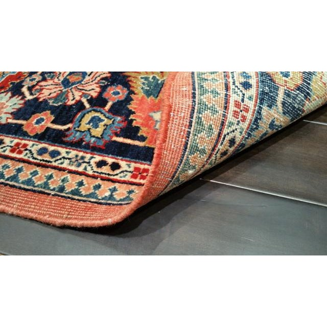 Antique Persian Sarouk Fereghan Hand Made Knotted Rug - 8′3″ × 9′ - Size Cat. 8x10 9x9 For Sale - Image 4 of 4