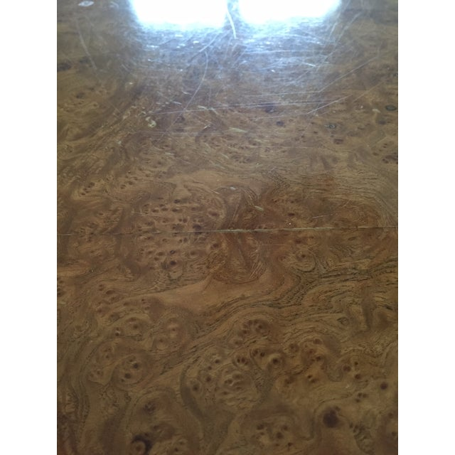 Brown Mid-Century Modern Burlwood Dining Table For Sale - Image 8 of 13