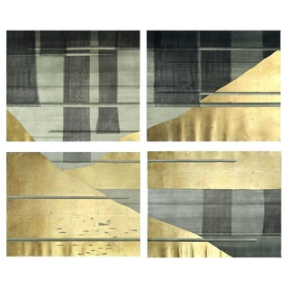 Gold Planes Polyptych For Sale